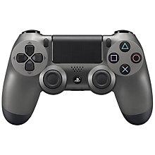 PS4-DUAL SHOCK 4 STEEL BLACK