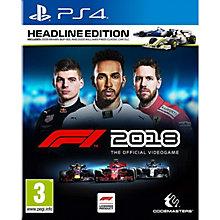 PS4-F1 2018: HEADLINE EDITION