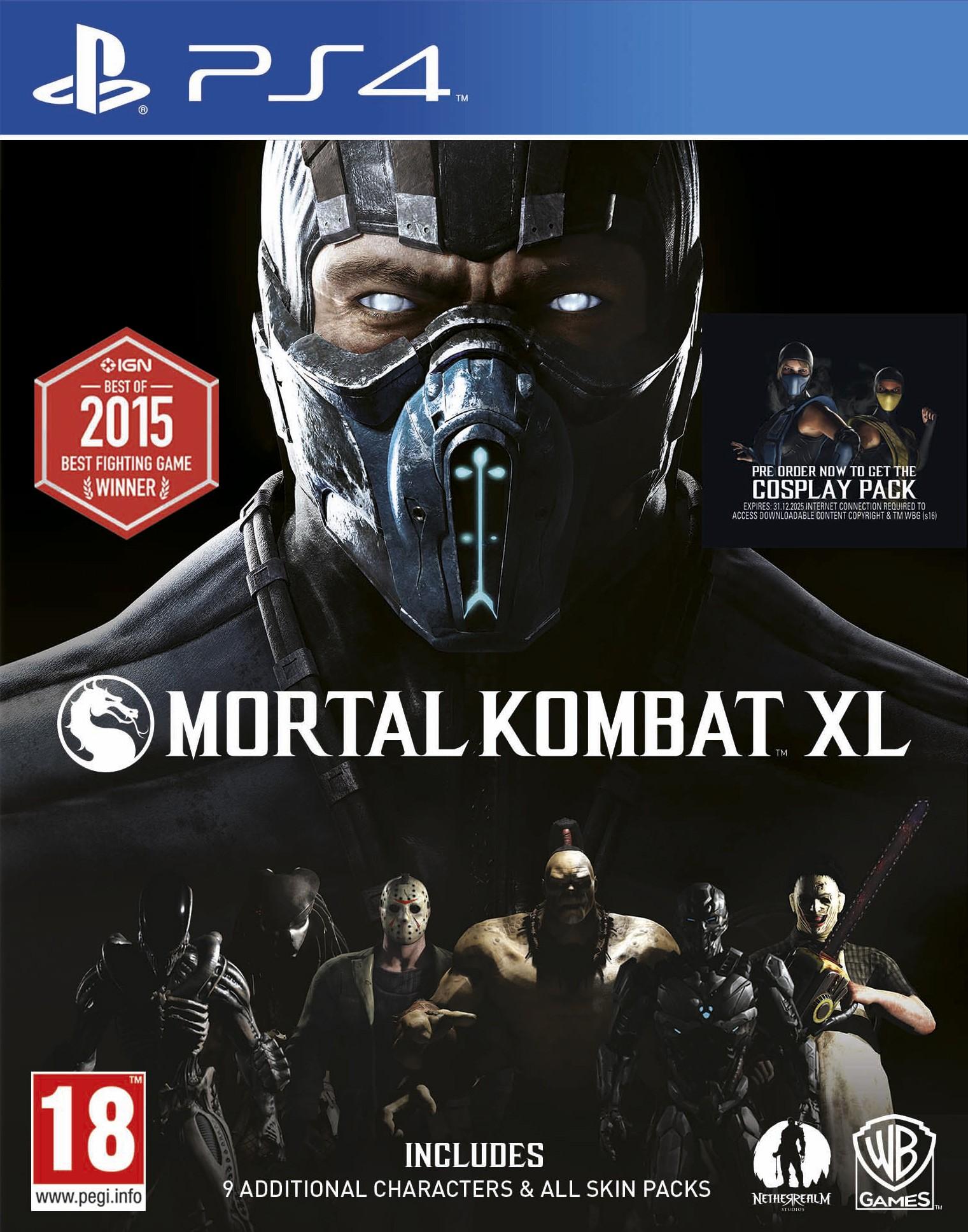PS4MORTALKXL : Mortal Kombat XL (PS4)