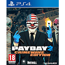 PS4-PAYDAY 2: CRIMEWAVE EDITION