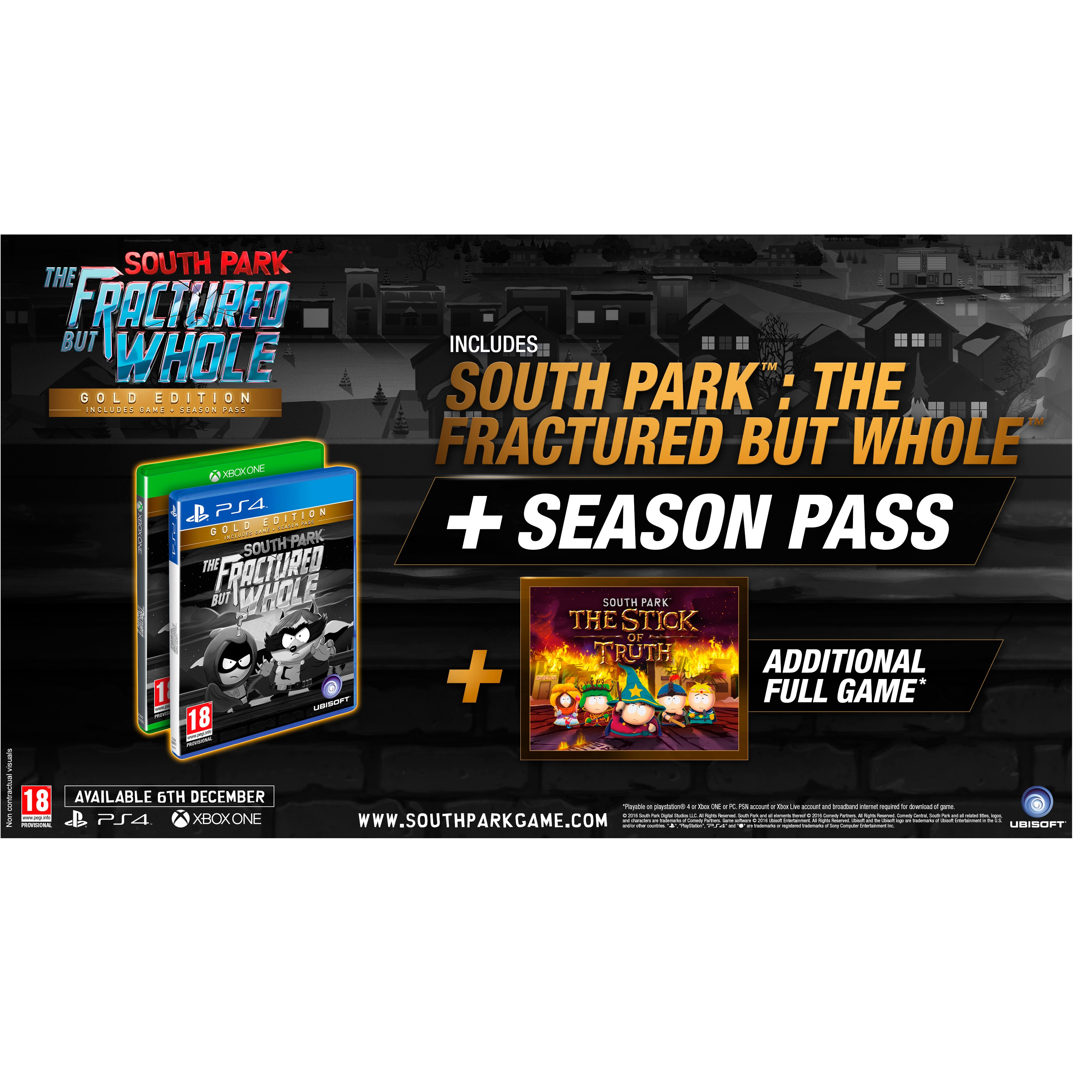 PS4SOUTHPFBG : South Park: The Fractured but Whole Gold Ed. (PS4)