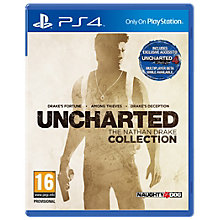 PS4-UNCHARTED COLLECTION 1,2 &