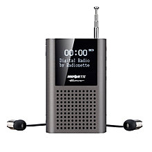 RADIONETTE FM/DAB+ POCKET RADIO GREY
