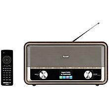 RADIONETTE FM/DAB+/INTERNETT/BLUETOOTH RADIO WOOD