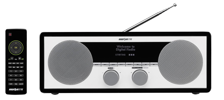 84317 : Radionette FM-, DAB-, DAB+ internettradio (sort)