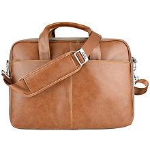 "Sandstrøm 15.6"" computertaske i PU læder - brun"