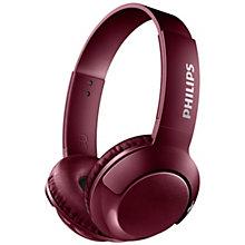 Philips Bass+ trådløse on-ear hovedtelefoner - rød