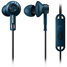 PHILIPS HEADPHONES IE SPORTS BLUE MIC