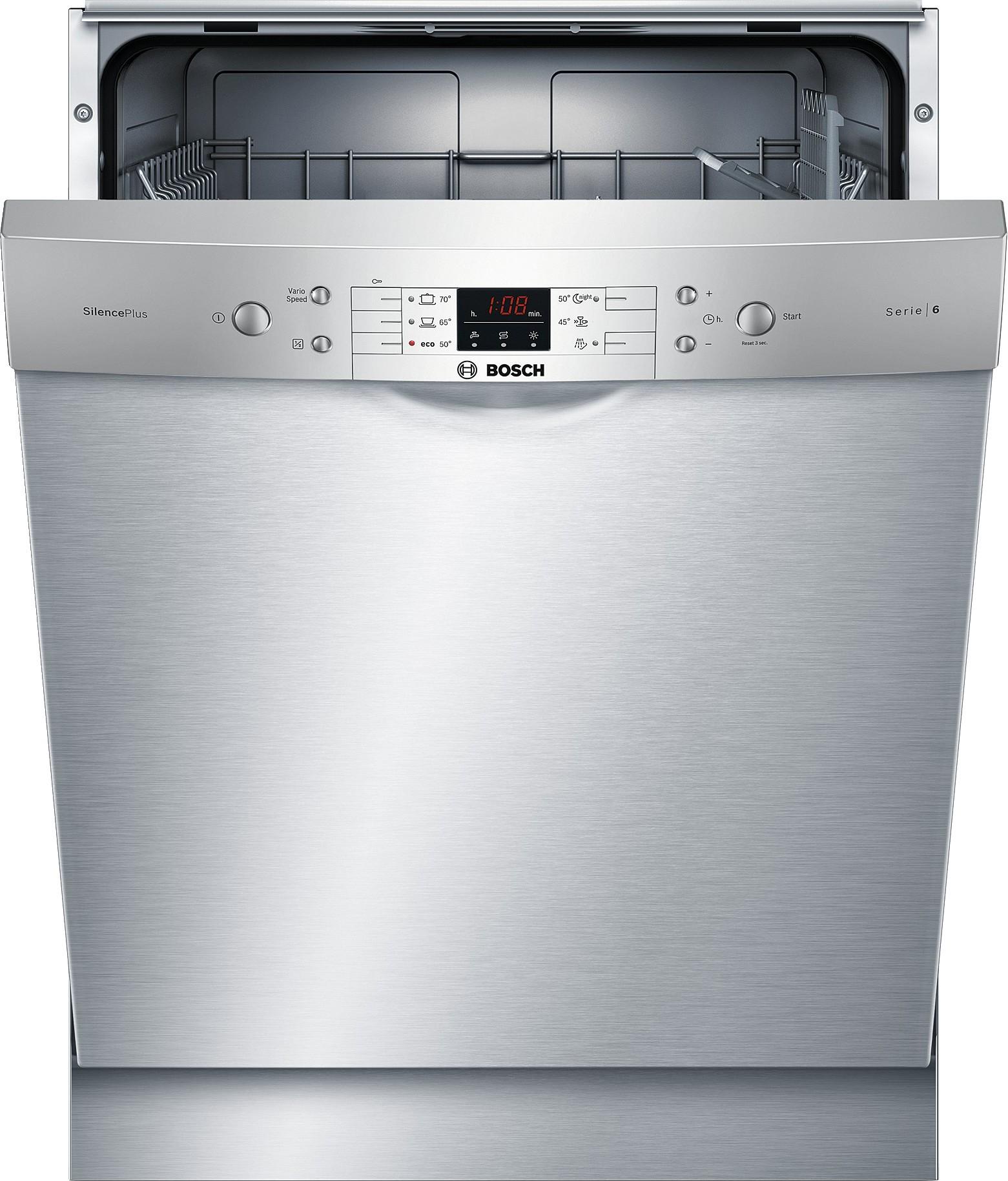 SMU61L18SK : Bosch oppvaskmaskin SMU61L18SK (stål)