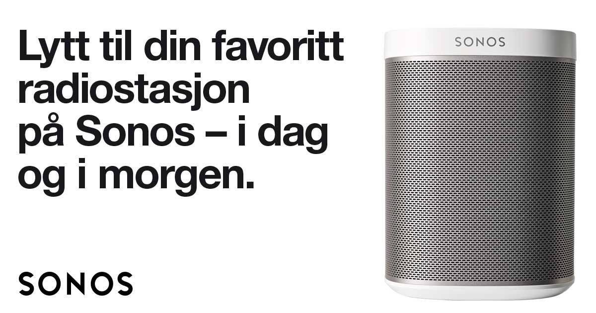 Med Sonos kan du høre på radio både før og etter FM-nettet stenger