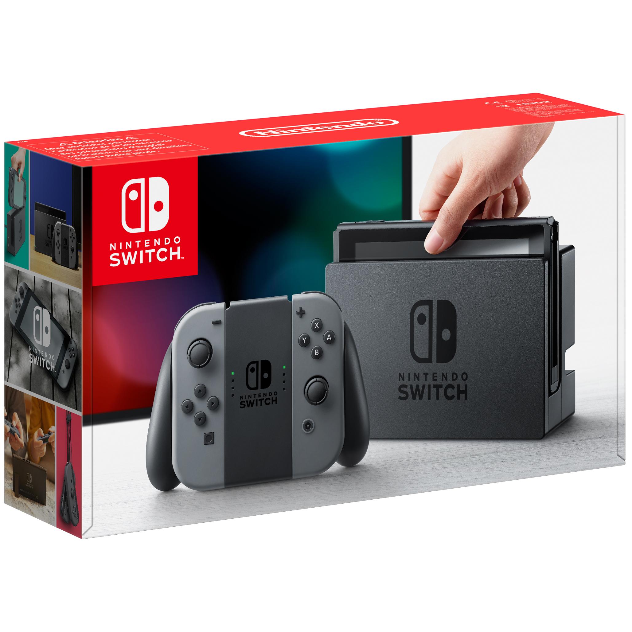 Nintendo Switch spillekonsol + grå Joy-Con