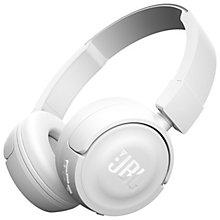 JBL T450WH trådløse on-ear hovedtelefoner - hvid