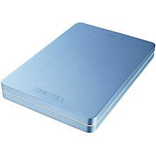 Toshiba Canvio Alu 1 TB ekstern harddisk - blå