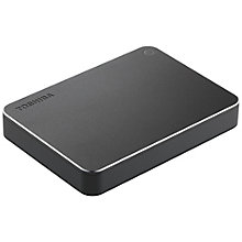 Toshiba Canvio Premium 2 TB bærbar harddisk - dark grey