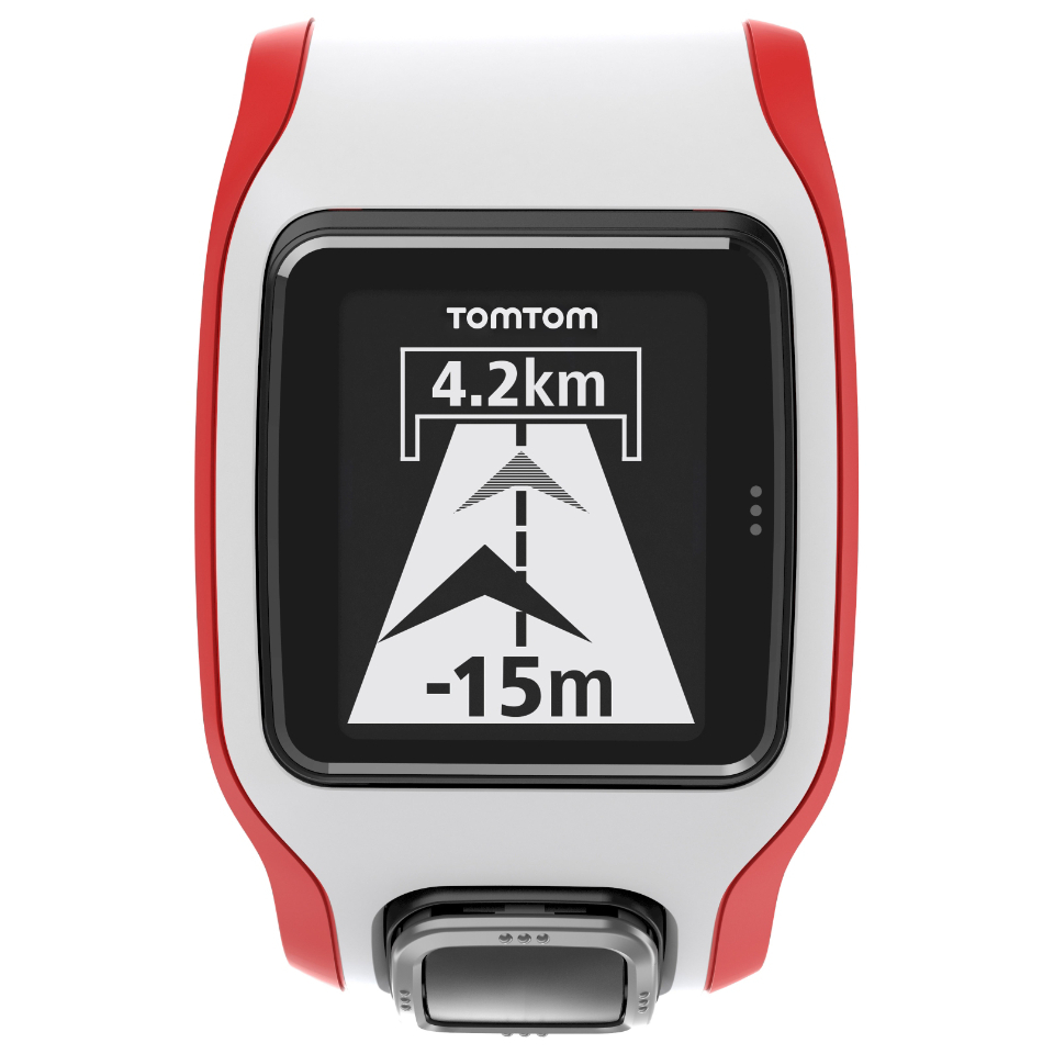 TomTom Multi-Sport Cardio sportsklokke (hvit/rød)