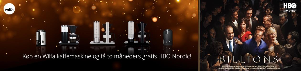 Køb Wilfa kaffeprodukter og få HBO Nordic med i købet