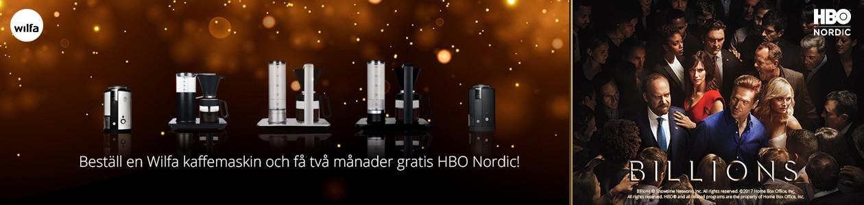 Köp Wilfa kaffeprodukter och få HBO Nordic på köpet