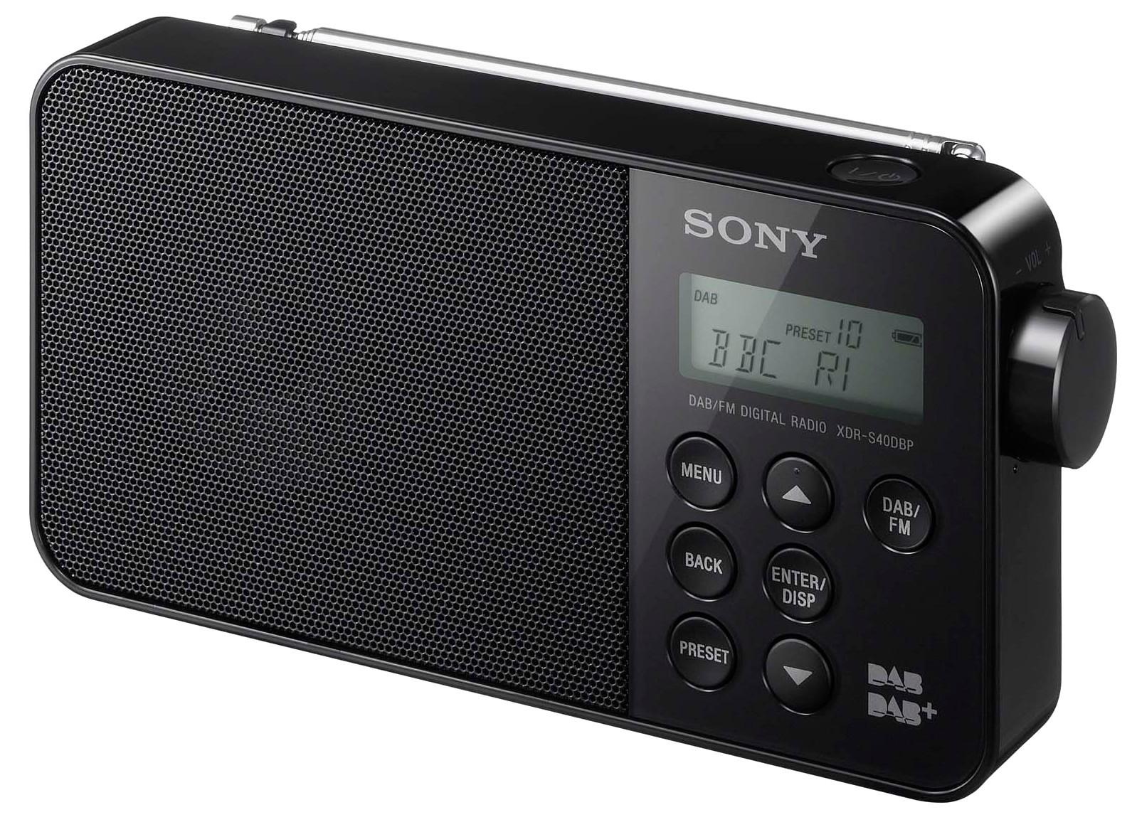 XDRS40DBPB.CED : Sony DAB+ radio XDR-S40DBP (sort)