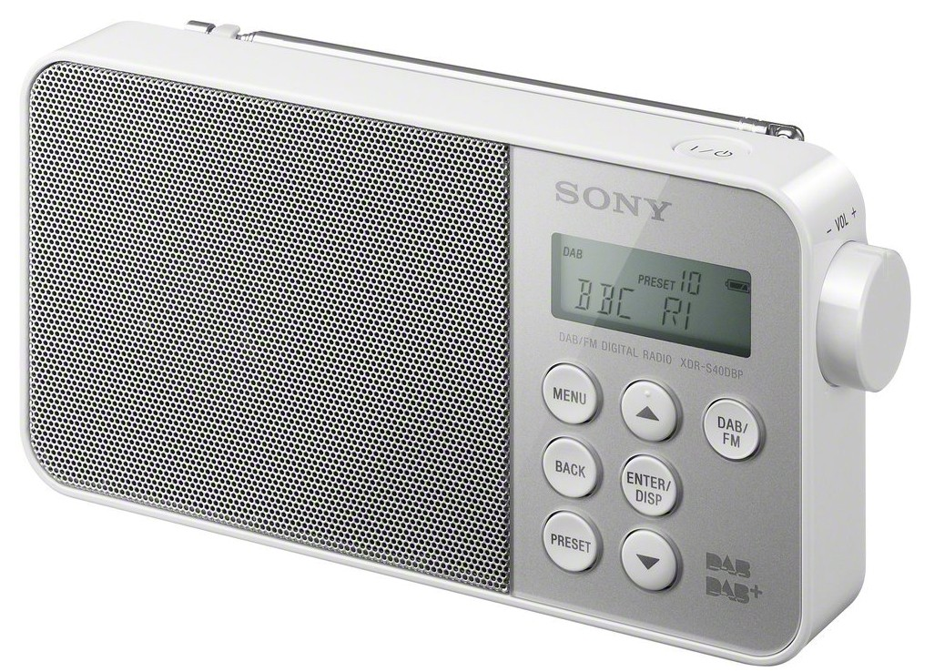 XDRS40DBPW.CED : Sony DAB+ radio XDR-S40DBP (hvit)