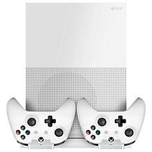 Piranha Xbox One S stander med opladning - hvid