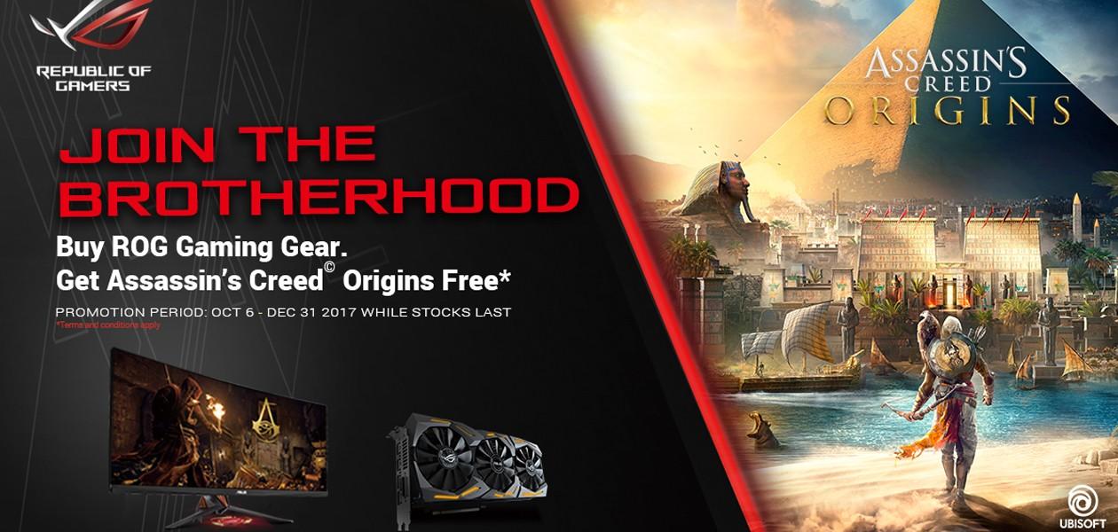 Köp gaming-produkter från ASUS och få Assassins Creed Originis på köpet!
