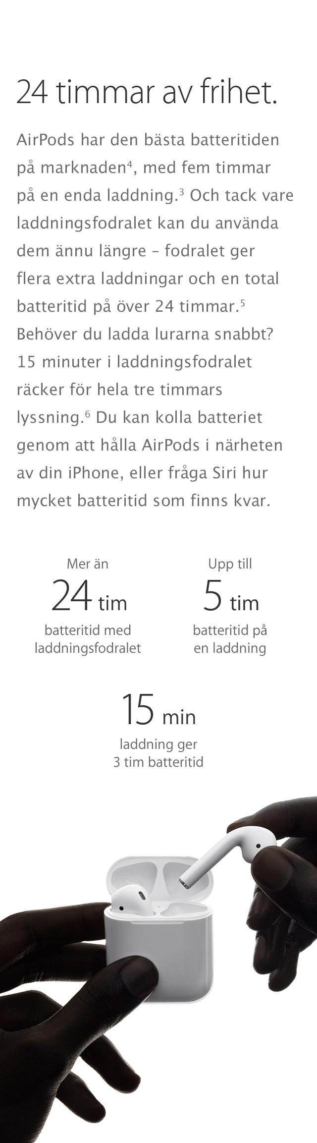 Otrolig batteritid