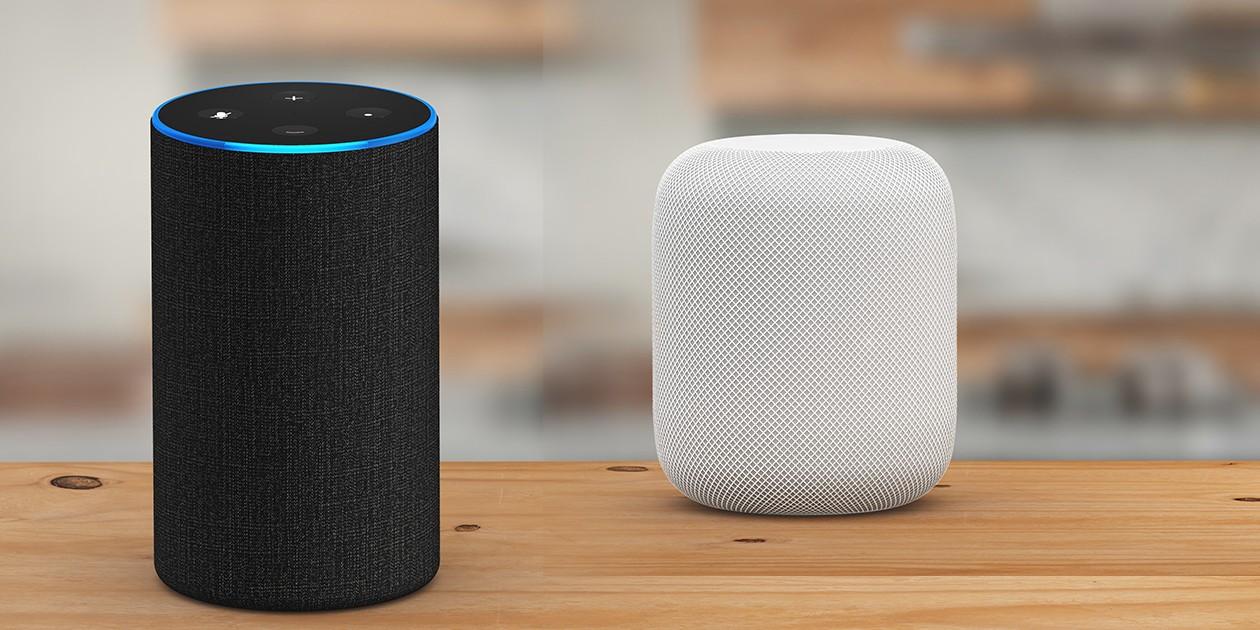 Høyttalere med stemmestyring fra Amazon og Apple