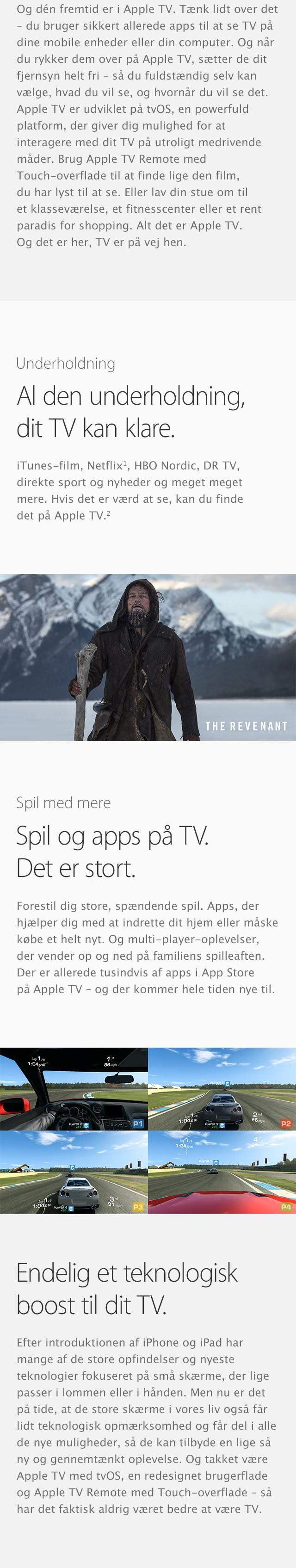 Med Apple TV får du TV, underholdning, spil og masser af apps