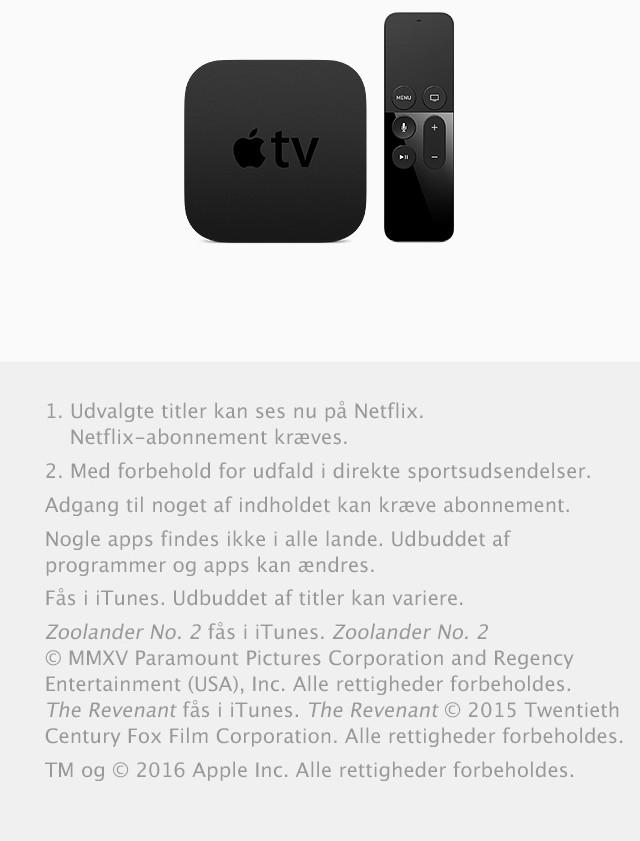 Apple TV med Apple TV Remote