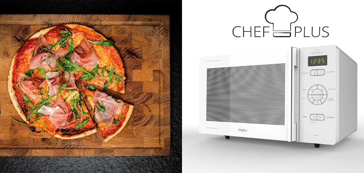 Whirlppol Chef Plus mikrobølgeovn og pizza