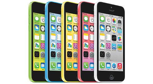 iPhone 5C i flere farver