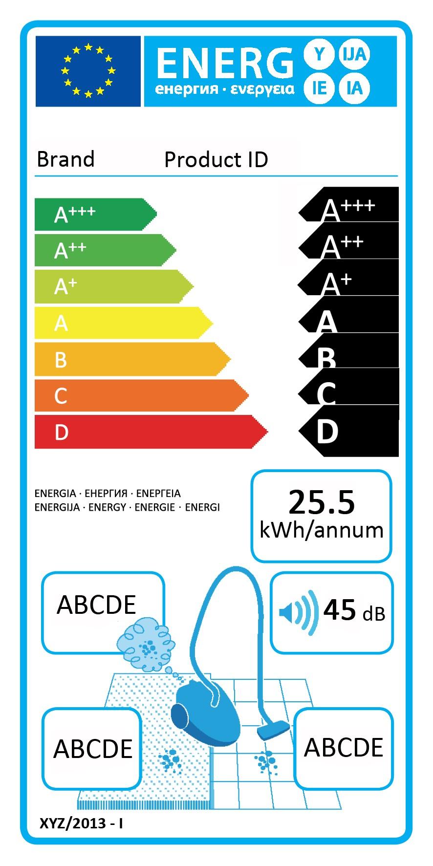 Orkumerki - ELECTROLUX VACUUM ZEN 58DB AACA