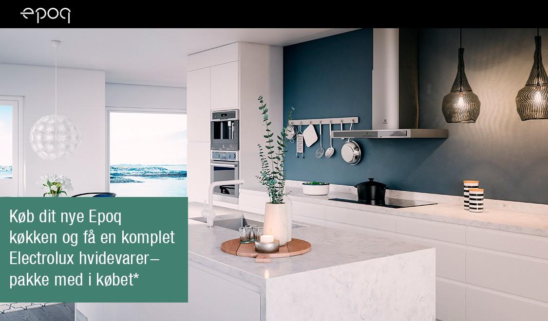 Køb Epoq køkken og få Electrolux hvidevarer-pakke med i købet