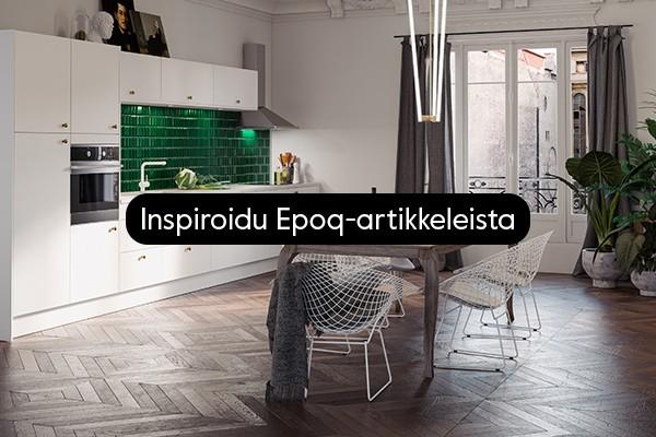 Inspiraatiota keittiöön ja kodinhoitohuoneeseen
