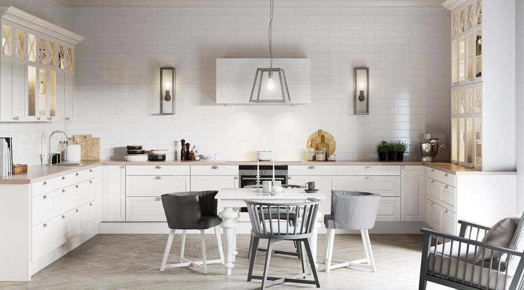 Køkken Fasett Offwhite Mansion