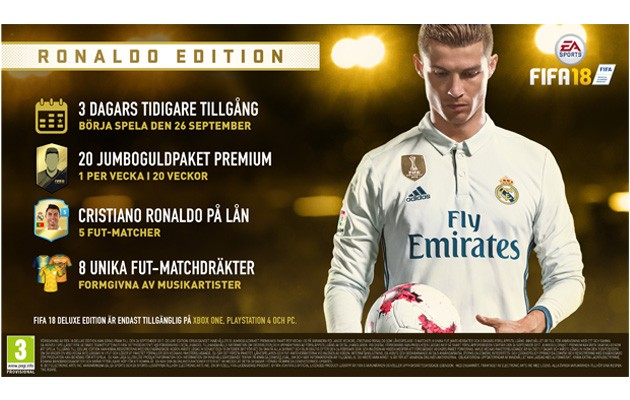 FIFA 18 Ronaldo Edition med Early Access