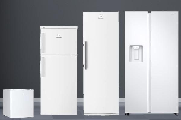 Bild av olika kylskåp