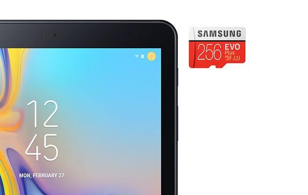 Galaxy Tab A har gott om plats för allt det viktiga
