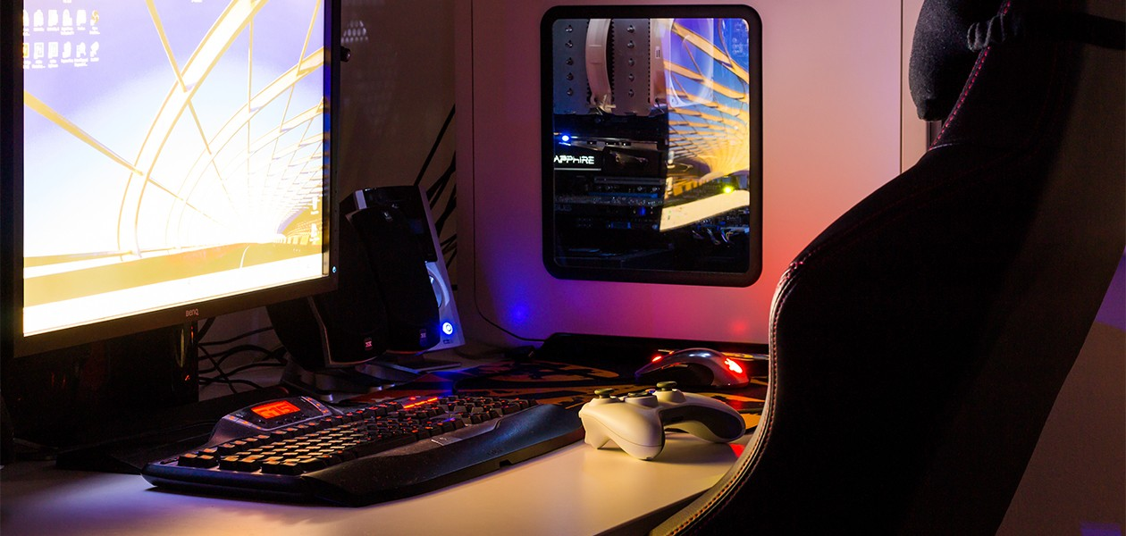 Gamingstol och bord