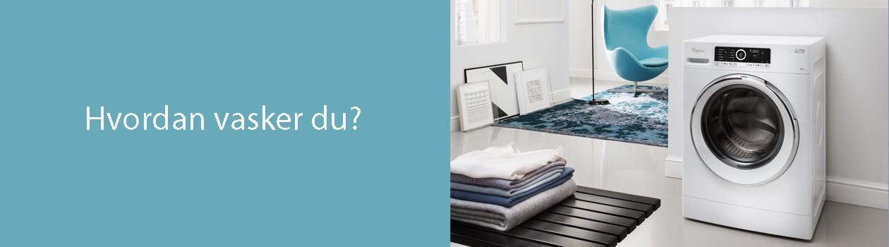 Vi hjelper deg med å finne rett vaskemaskin og tørketrommel