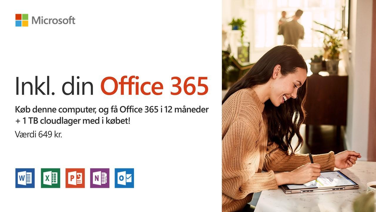 Få Office 365 i 12 måneder + 1 TB cloudlager med gratis
