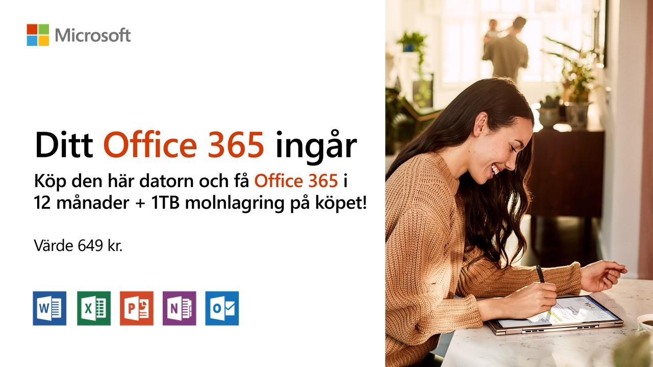 Få Office 365 i 12 månader + 1TB molnlagring på köpet