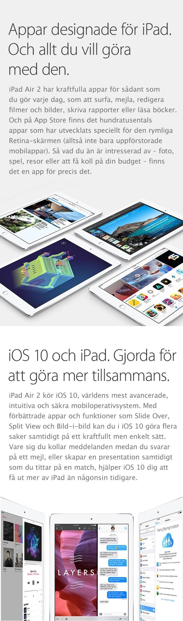 iCloud och iOS fungerar perfekt på iPad Air 2