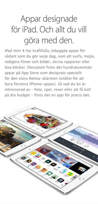 iPad mini 4 – designad för perfektion