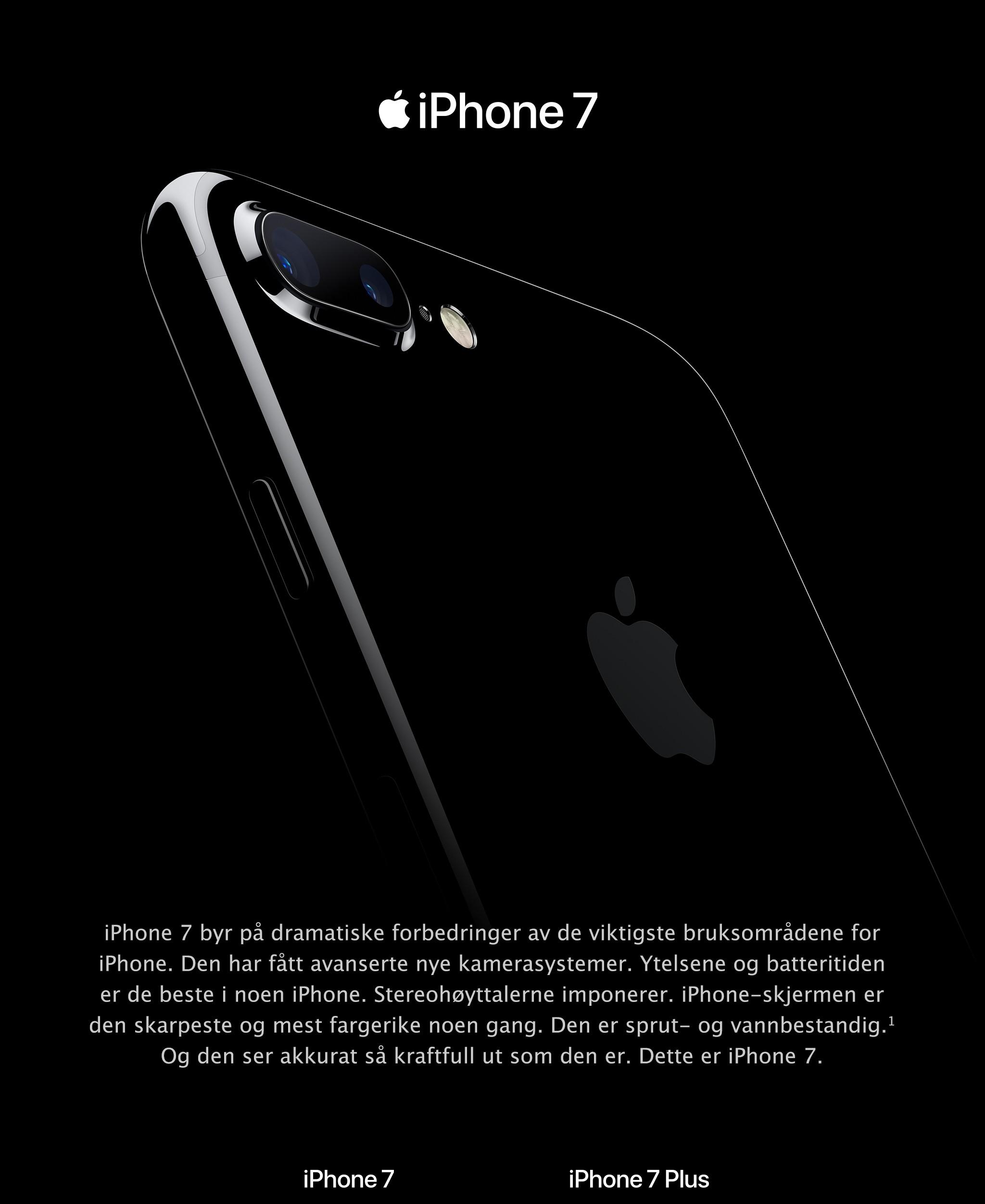 Kjøp iPhone 7 og iPhone 7 Plus hos Elkjøp | iPhone 7 - kvalitet på et nytt nivå