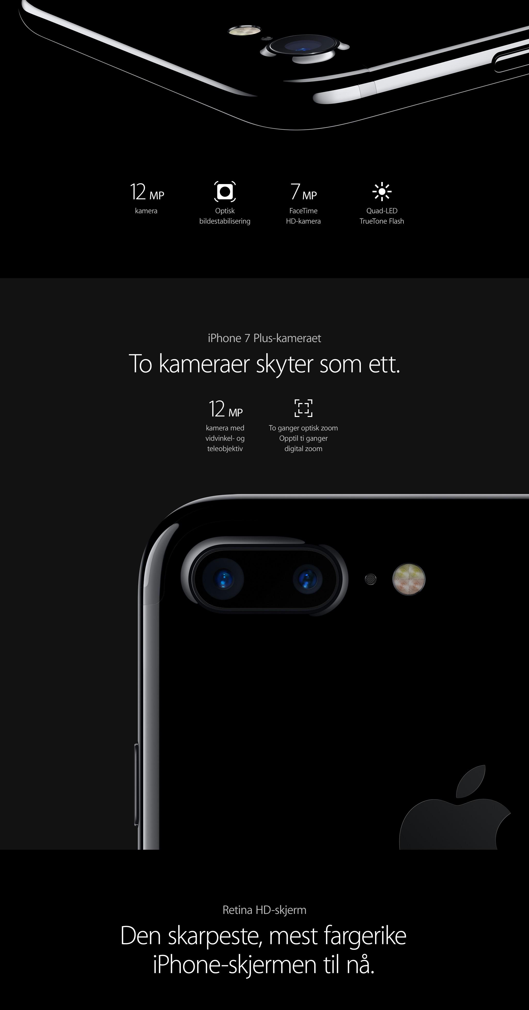 Kjøp iPhone 7 og iPhone 7 Plus hos Elkjøp | iPhone 7 - stereolyd og lengre batteritid enn noensinne