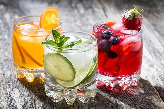 3 glas med juice