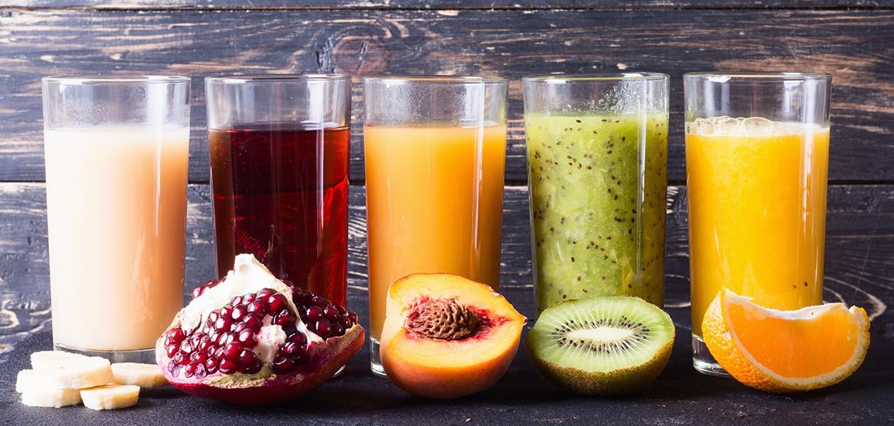 Billede af forskellige typer frugt-juice