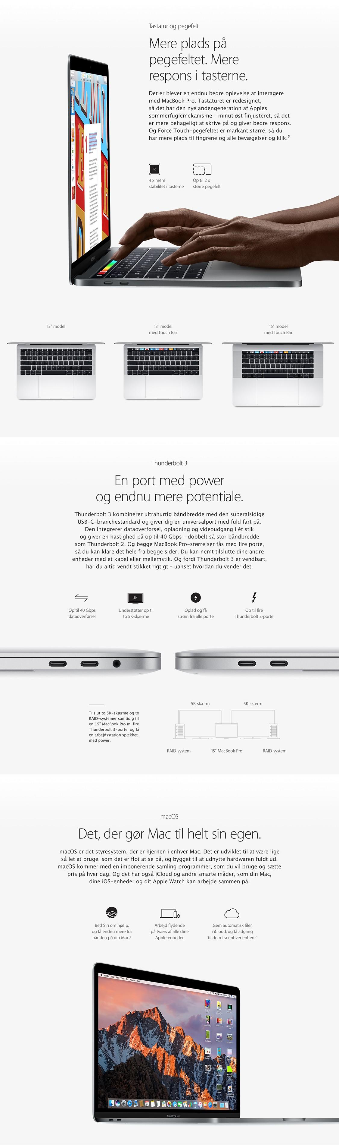 Få mere plads og power med MacBook Pro