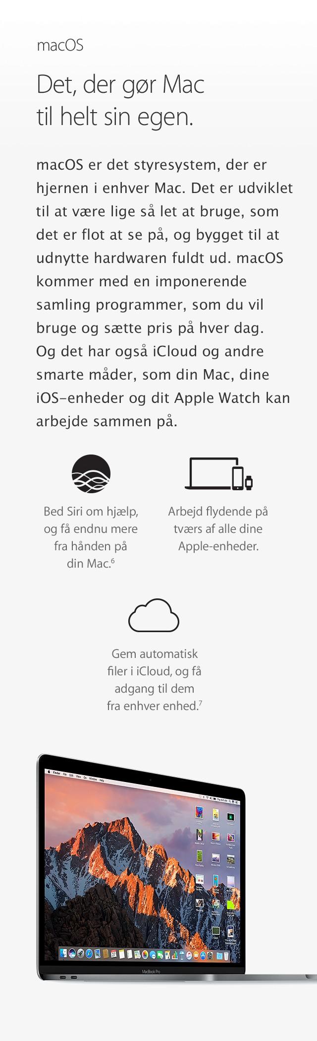 macOS gør MacBook Pro'en til en ener